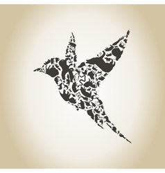 Bird an animal vector image