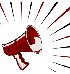 Megaphone announcement vector