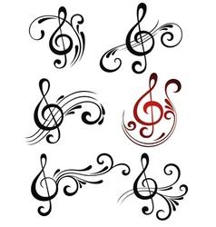 Music symbols vector image