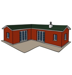 Red small house vector
