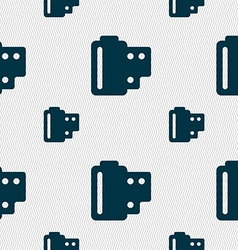 35 mm negative films icon sign seamless pattern vector