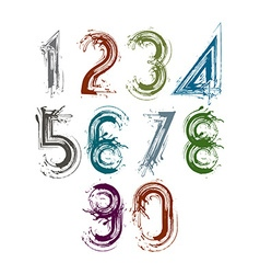 Handwritten numbers isolated on white background vector