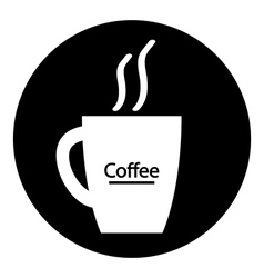 Coffee cup symbol button vector