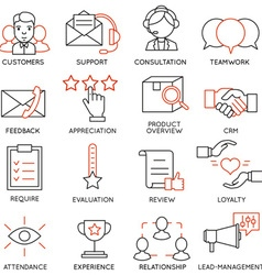 Set of icons related to business management - 13 vector