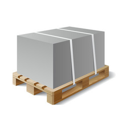 Cargo on a wooden pallet vector