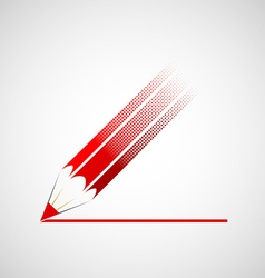 Logo red pencil vector image
