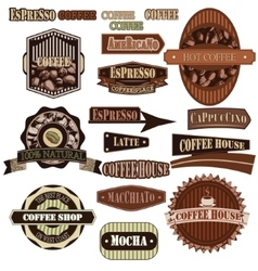 coffee company brown vector image