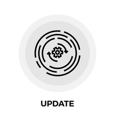 Update line icon vector