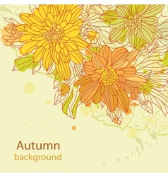 Orange autumn perfect background vector