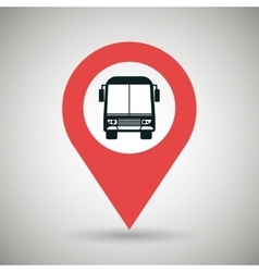 Red signal of bus isolated icon design vector