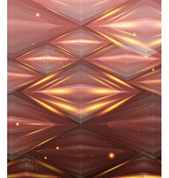 Abstract hexagon pattern Beige and golden shiny vector image
