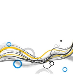 Abstract simple lines and circles in footer art vector