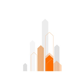 arrows up background orange gray vector image vector image