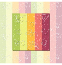bright pattern vector image vector image