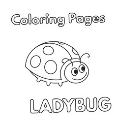 cartoon ladybug coloring book vector image vector image