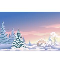 Christmas sunrise vector image vector image
