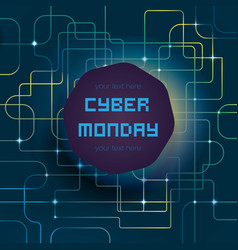 cyber bright background vector image vector image