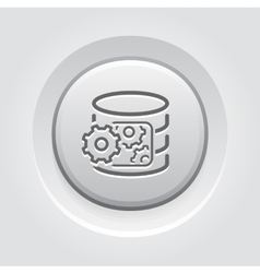 Data processing icon vector