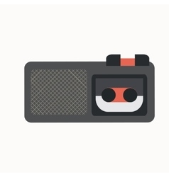 Dictaphone flat icon vector
