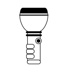 Flashlight camping icon image vector
