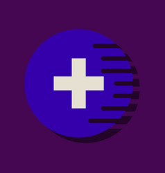 Flat icon design collection medical cross in vector