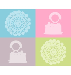 Flat iron and crochet work vector