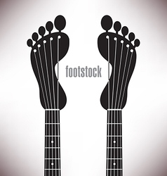 Footprint headstocks footstock vector