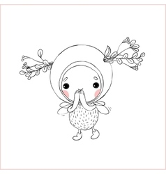Forest fairy on a white background vector