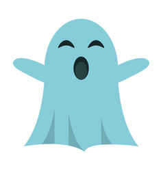 Ghost april fools s day vector