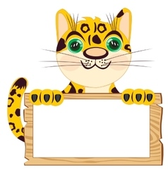 Leopard with poster vector