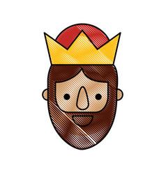 Manger wise king christmas celebration bring vector