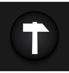 modern hammer black circle icon vector image