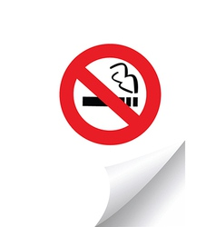 No smoking sign on paper vector image vector image