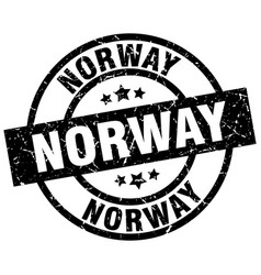 Norway black round grunge stamp vector