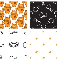 Pattern with cat and mouse vector image