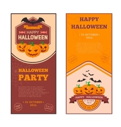 Pumpkins group and text vector