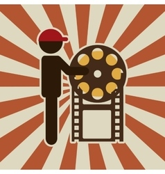 retro cinema design vector image vector image
