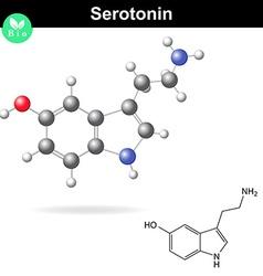 Serotonin molecular structure vector image vector image