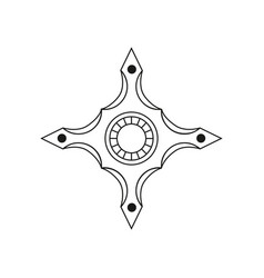 spinner for hand stress relief fidget toy icon vector image