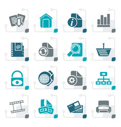 Stylized web site and internet icons vector