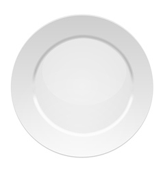 White dinner plate vector image