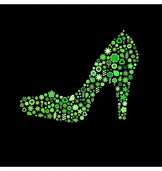 woman shoe shape vector image vector image