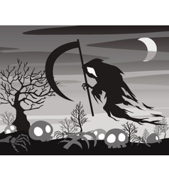 Halloween angel of death vector