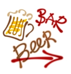 pointer to the beer bar vector image