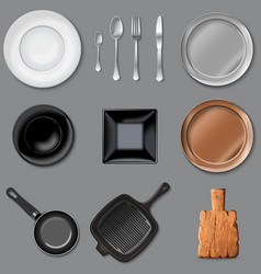 Set of kitchen tools vector