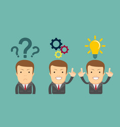 thinking or problem solving business concept vector image