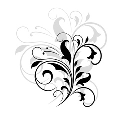 Swirling floral pattern vector