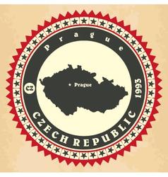 Vintage label-sticker cards of czech republic vector