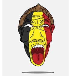 Football fan from belgium vector