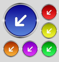 Turn to full screenicon sign round symbol on vector